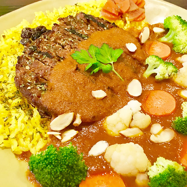 VegiLicious curry hamburger Steak